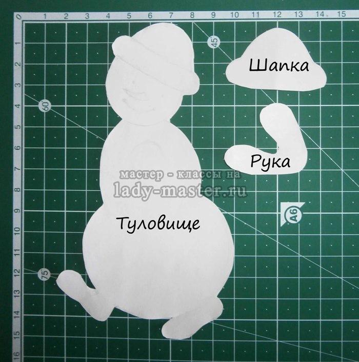 Выкройка мягкая игрушка снеговик своими руками 6
