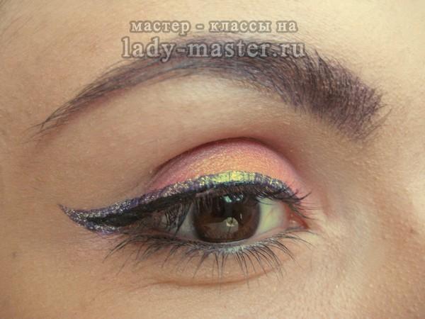 розовый макияж глаз, фото