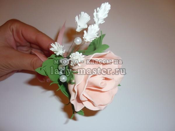 Бутоньерка для жениха своими руками из фома