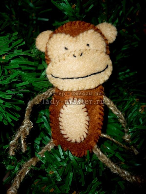 Фетровая обезьянка
