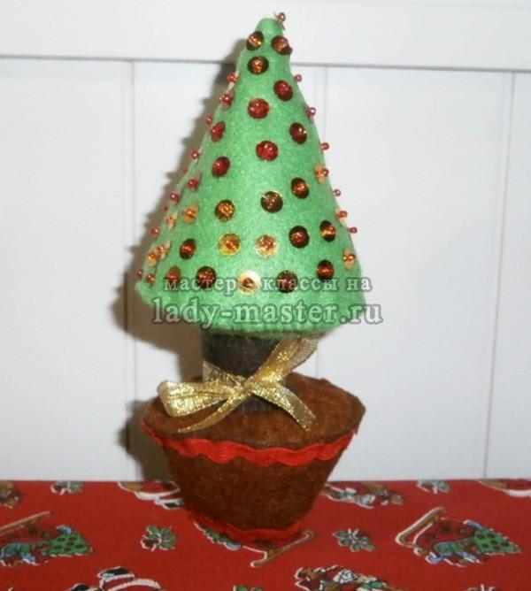 Новогодняя ёлочка из фетра