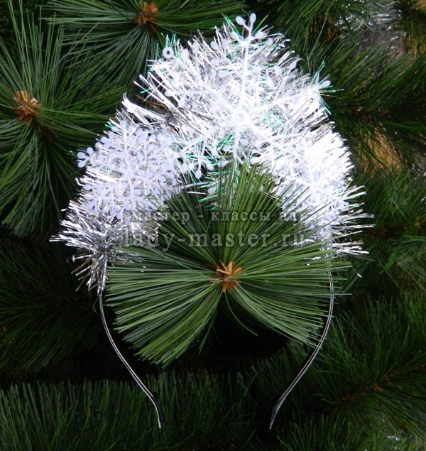 кокошник для снежинки, фото