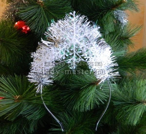 Снежинка из фоамирана своими руками