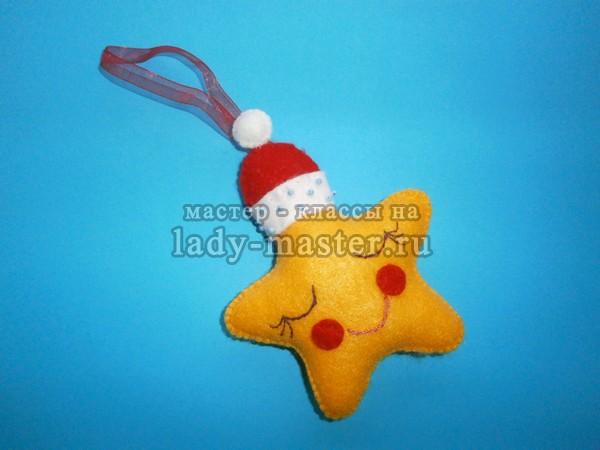 елочная игрушка звездочка, фото