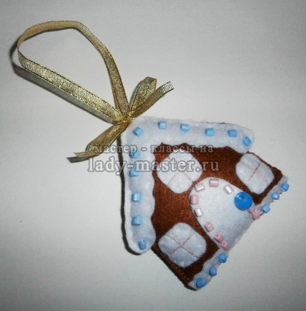елочная игрушка пряничный домик, фото