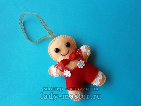 Елочная игрушка «Пряничный человечек»