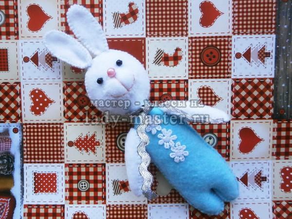 Мягкая игрушка «Зайчик из фетра»