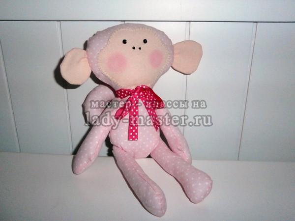 Игрушечная обезьянка в стиле тильда