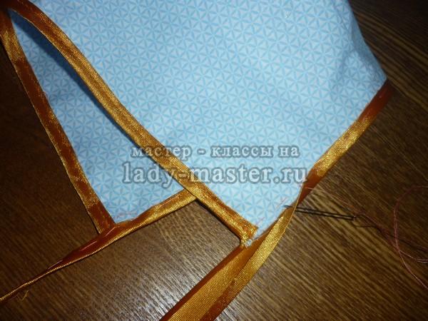 Чепчик для ребёнка из ткани
