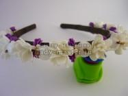 Ободок для волос с цветами ручной работы