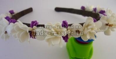 Делаем нежный ободок для волос с цветами из фоамирана