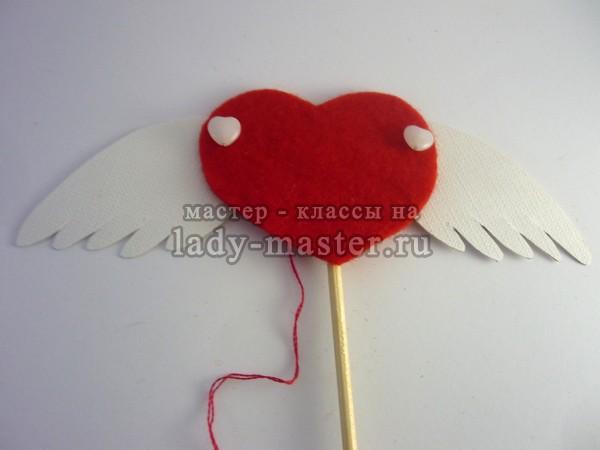 Крылатая валентинка своими руками