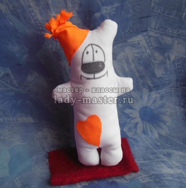 Белый мишка с сердечком открытка своими руками
