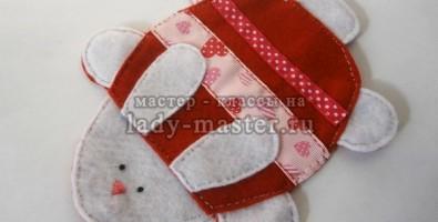 Подставка для чашки «Кролик» своими руками