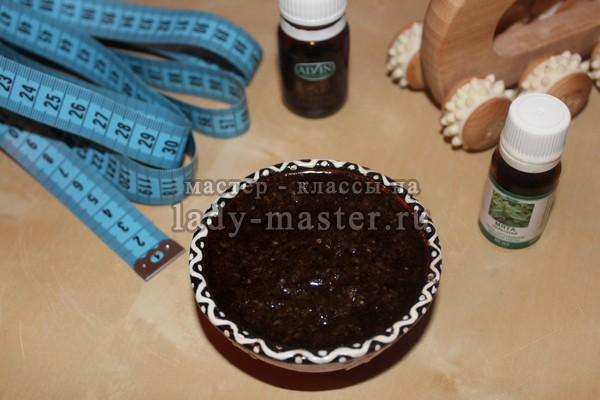 кофейно - солевой скраб, фото