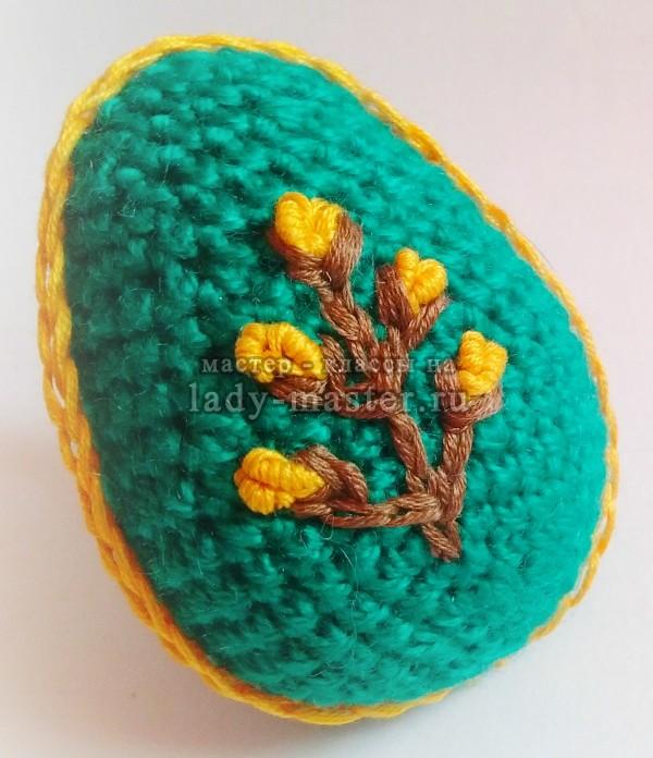 пасхальные яйца крючком, фото