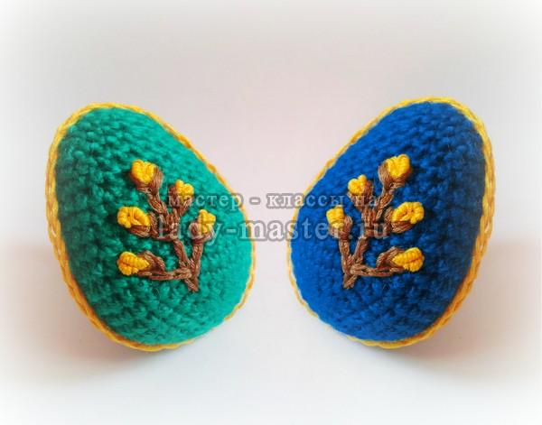 Вязаное яйцо — сувенир на Пасху