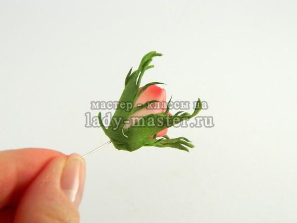 Бутон розы из фоамирана, мастер класс с фото, пошагово