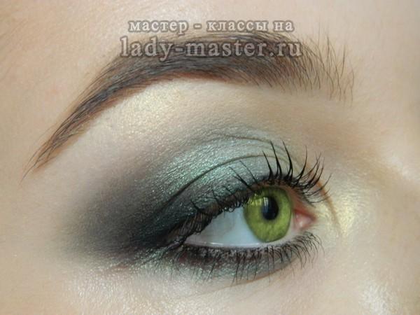 макияж для зеленых глаз, фото