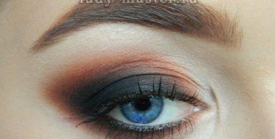 Насыщенный «смоки» для синих глаз