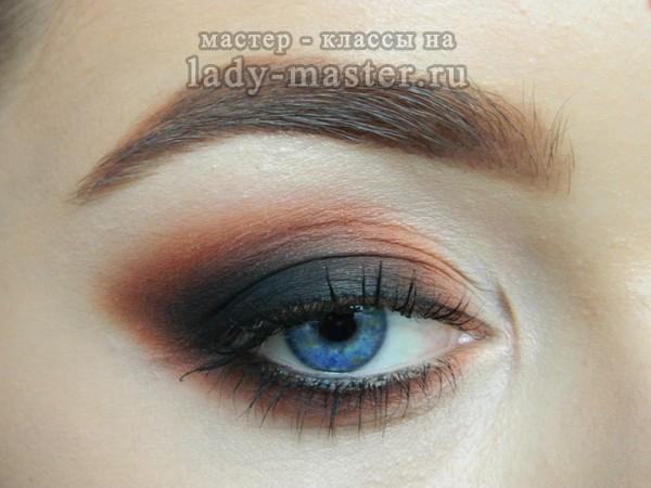 макияж для синих глаз, фото