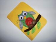Обложка для паспорта из фетра с совой