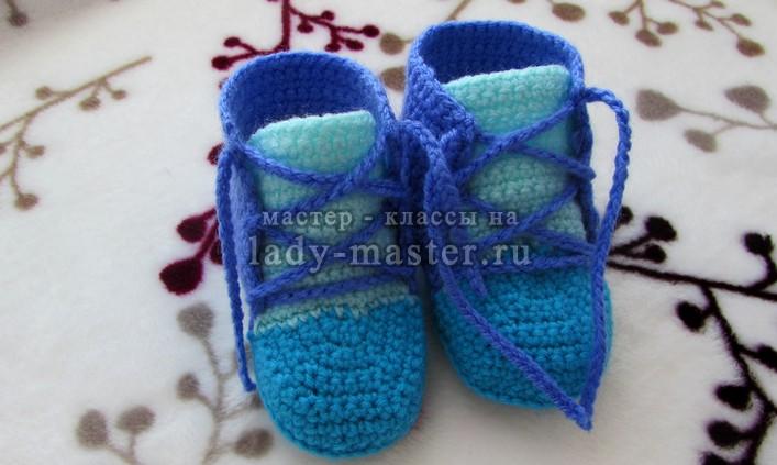 вязаные кеды для малышей, фото