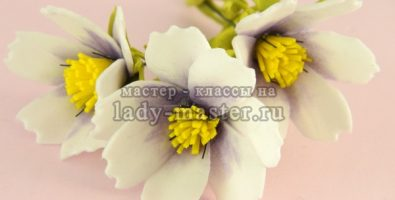 Цветок космея из фоамирана