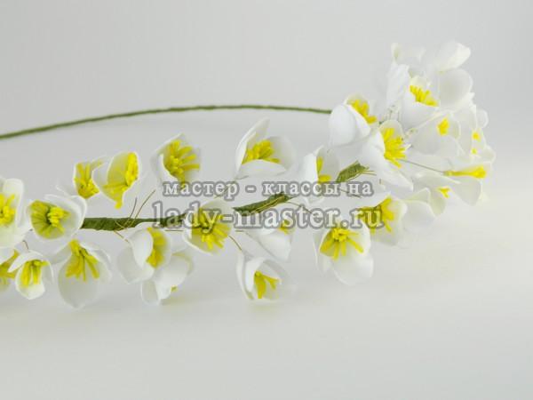 Обруч с цветком канзаши своими руками