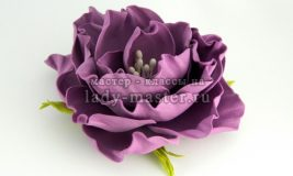 Роза из фоамирана по цельным шаблонам