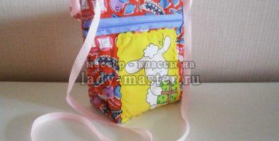 Детская летняя сумочка с аппликацией