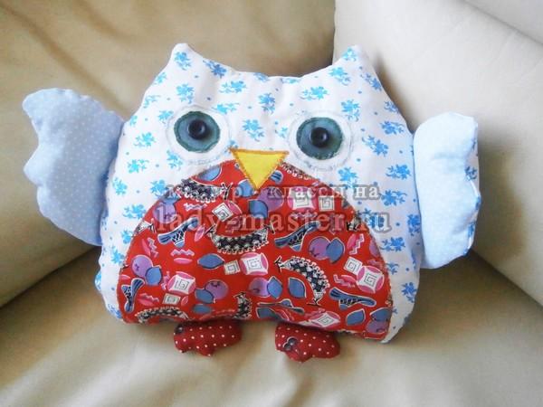 подушка сова своими руками, фото