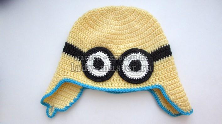 шапка для мальчика миньон, фото