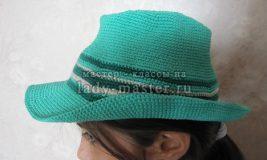 Вяжем модную летнюю шляпу-федору своими руками
