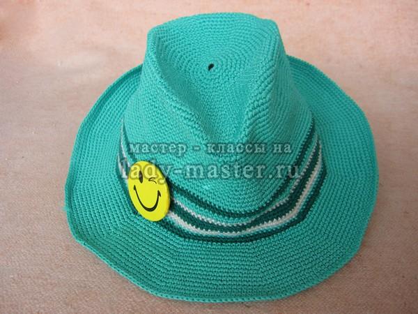 шляпа федора крючком схема, фото