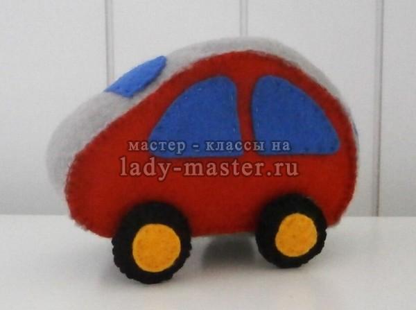 Мягкая игрушка «Автомобиль» из фетра