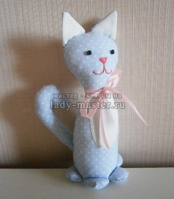 Мягкая игрушка «Котик с бантиком»