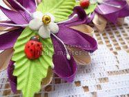 Резинки для девочки фиолетовые