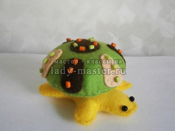 черепаха своими руками из фетра, фото