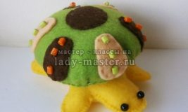 Декоративная черепашка из фетра
