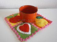 Подставка для чашки с фруктами