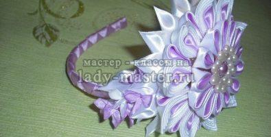 Мастер-класс по изготовлению ободка «Роскошь» из атласных лент