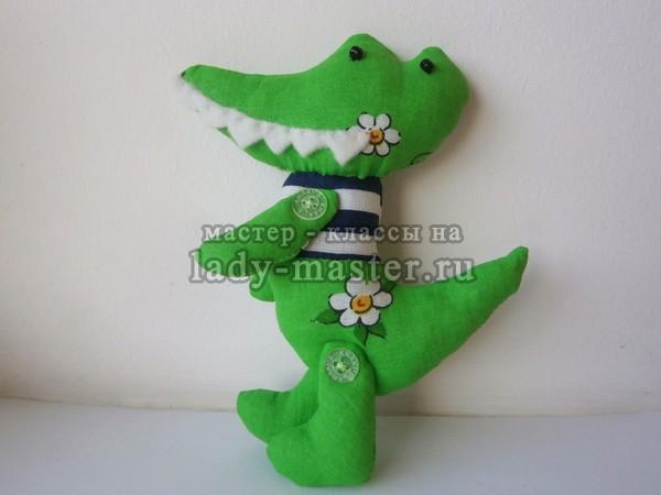 Текстильная игрушка «Крокодил»