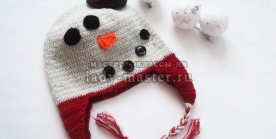 Шапочка-снеговик своими руками
