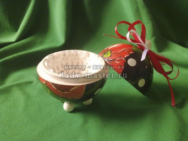 шар шкатулка для подарка, фото