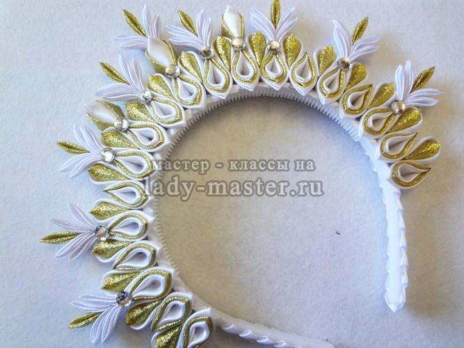 корона из атласных лент своими руками, фото