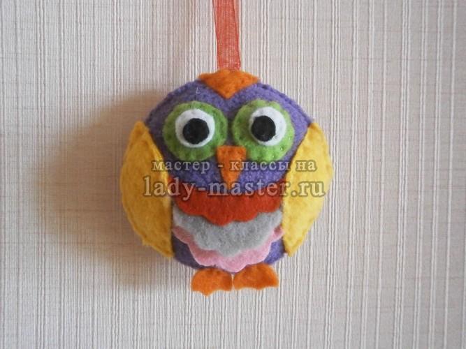 новогодняя сова на ёлку, фото