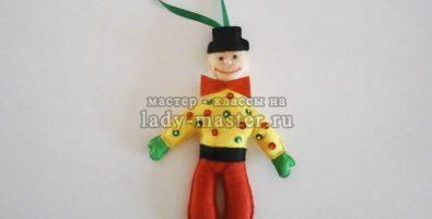 Новогодняя игрушка «Веселый клоун» своими руками