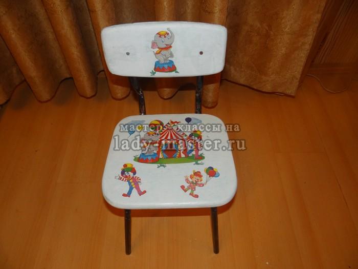 декупаж детских стульев своими руками, фото