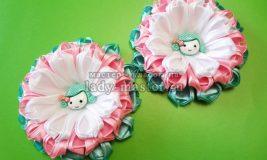 Нежные цветочки для декорирования детских заколок